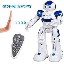 Beschreibungen:  Der SGILE Fernbedienungsroboter ist aus ungiftigem, umweltfreundlichem ABS-Kunststoff gefertigt, um eine dauerhafte Haltbarkeit und Gesundheitssicherheit zu erreichen. Der Roboter reagiert auf verschiedene Handgesten, die das Gerät b...
