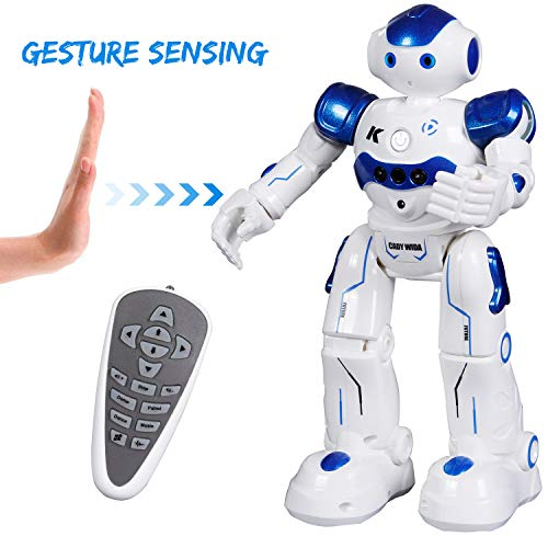 SGILE Kids Remote Control Robot Toy - Programmable Interactive Gesture Sensing Robot Kit, Dancing Walking Singing Smart Robotics - RC LED Combat Fun Robotic Birthday Gift for Kids