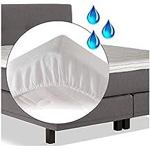 Protector de colchón impermeable de franela - Molton para topper de colchón 200 x 210 cm - 200 x 210 cm