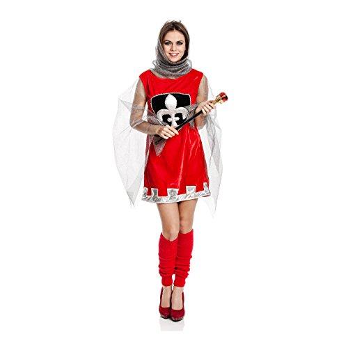 Kostümplanet® Ritter-Kostüm für Damen Mittelalter-Kostüm Frauen sexy Kostüme Damen Faschings-Kostüm Größe 36/38 (Sie Kostüm Stellen Ritter)
