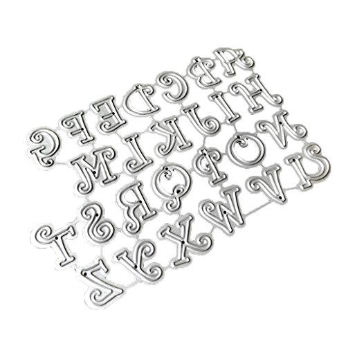 Erisl Kohlenstoffstahl Cartoon Großbuchstaben Stanzen Prägeschablone Schablone Form DIY Papier Kunst Handwerk Sammelalbum Lesezeichen Karte Decor