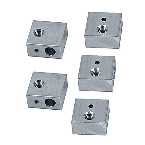 UEETEK 5pcs 3D impresora de aluminio bloque de calentador especializado para Makerbot MK7 MK8 3D...