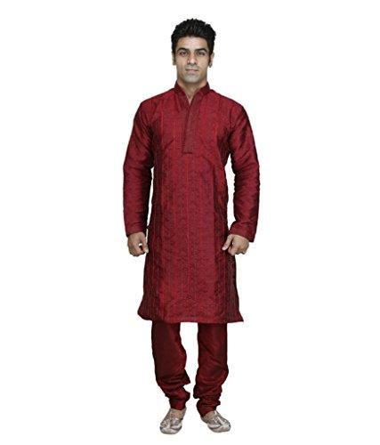 mens-maroon-designer-jacquard-pintex-sherwani