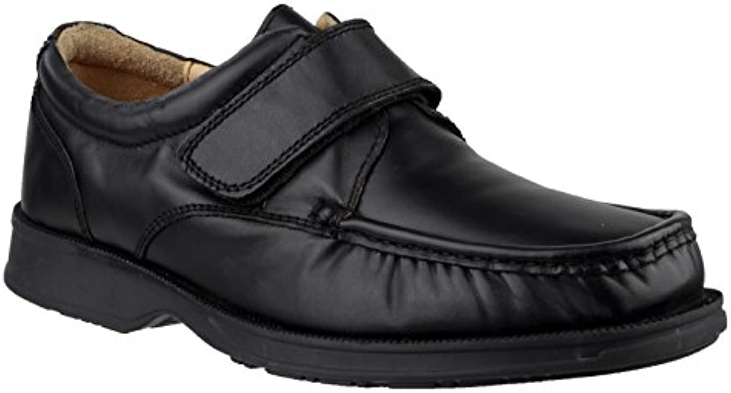 Amblers Strapped Leather Lined Mens Shoes - Black - Size 13 14