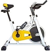 Fitness House FH 707 - Bicicleta estática de ciclismo, color blanco / amarillo, talla M