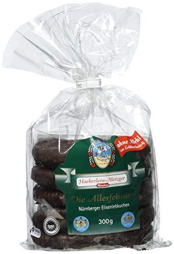 Preisvergleich Produktbild Haeberlein Metzger Elisenlebkuchen ohne Mehl Zartbitter,  5er Pack (5 x 300 g)