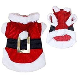 Meily Disfraces de navidad ropa para perros de Santa Perrito Pet Apparel nuevo diseño (M)