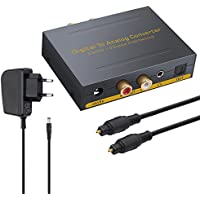 DAC Konverter Digital Koaxial Optischer SPDIF Toslink zu Analog Stereo Audio RCA L / R und 3,5 mm Klinke mit Optischer Umschalter Audio Adapter für PS3 XBox HD DVD PS4 Sky HD Plasma Blu-ray Heimkino-Systeme AV-Verstärker Apple TV