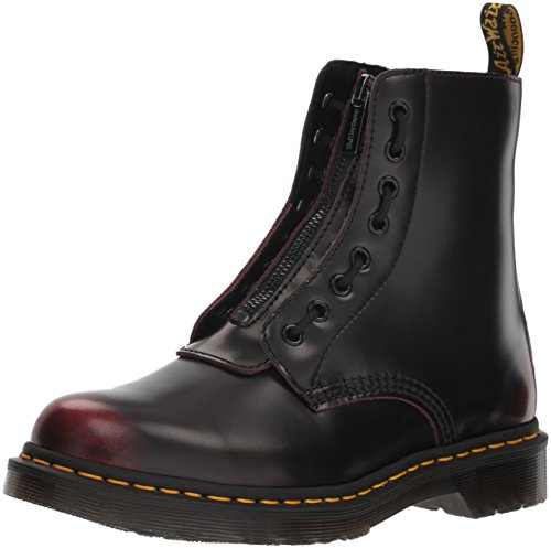 Dr. Martens Women's 1460 Pascal Front Zip Arcadia Leather Boot Cherry Red-Red-5 Size 5