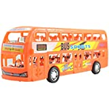 Lukas Bus For Kids, Push And Go Toy For Kids, Toy Bus, Bus Toy, Sports Bus Yellow