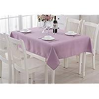 Tinta unita in cotone e tavolino panno