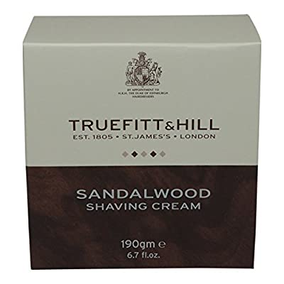 Truefitt and Hill Sandalwood Shaving Cream Bowl (190g) by Truefitt and Hill