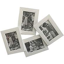 Ducomi Marco múltiple de Fotos de Madera – 4 Marcos 10 x 15 cm – Collage