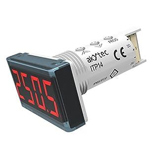 akYtec ITP14 Universale Prozessanzeige 0-10 V/4-20 mA, Rot