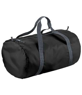 Bag Base - Sac de voyage en toile pliant ultra léger - BG150 - PACKAWAY BARREL BAG - Coloris noir