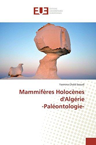 Mammifères Holocènes d'Algérie -Paléontologie-