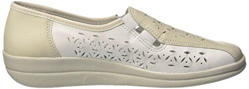 Comfortabel 941820, Mocassins femme Blanc - Weiß (platin/ weiß)