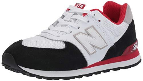 New Balance Jungen GC574NSB Sneaker White/Black, 38 EU -