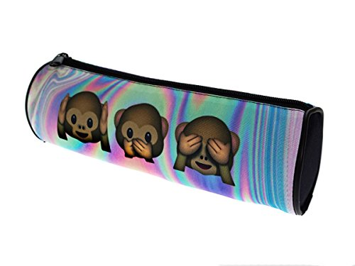Ferocity Estuches plumier la Tuba Caja de lápices Ronda Multicolor Hollo Monkey [025]