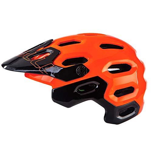 ZWYY Fahrradhelm, Atemschutzschutzschutzhelm Mit Adjustable Lightweight Mountain Bike Racing Helmet für Männer und Frauen,orange,L
