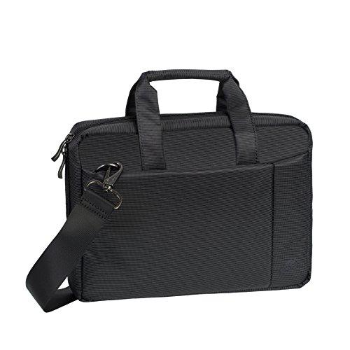 """RIVACASE Tasche für Notebooks bis 10.1"""" – Kompakte Laptoptasche mit Zusatzfächern und gepolsterten Seitenwänden - Schwarz"""