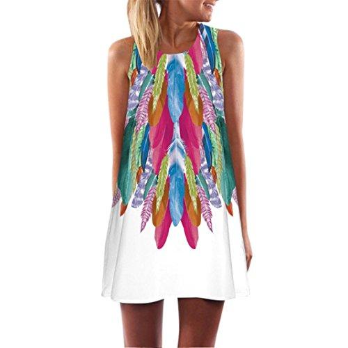 Vectry Kleider Damen Rockabilly Kleid Elegante Kleider Lange Kleider Frauen  Sommer Feste Damenkleider Kurz - Damen 7483608262