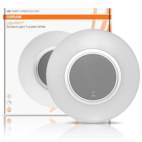 OSRAM LIGHTIFY Surface Light LED-Wand- und Deckenlampe Tunable White / dimmbar / warmweiß bis tageslicht 2700K – 6500K / Kompatibel mit Alexa - 3