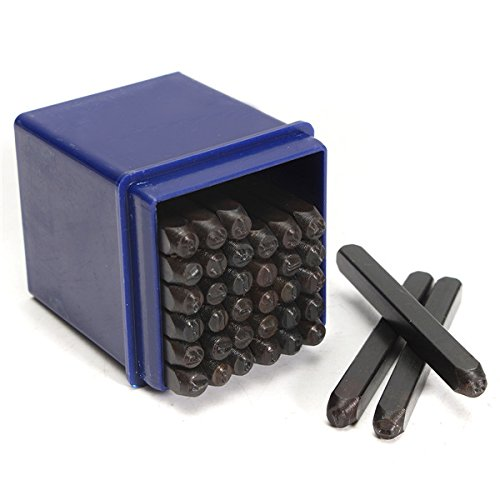 DyNamic 36Pcs 3Mm Stahl Alphabet Stamping Pressing Kit Brief Und Nummernstampflack-Punch Set -