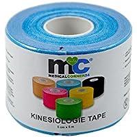 Preisvergleich für Medicalcorner24® Kinesiologie Power-Tape, 5 m x 5 cm Tape, Farbe Blau, Schmerzbehandlungs-Tape, Sport-Tape