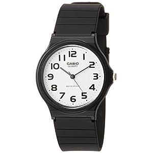 CASIO 2729 MQ-24-7B – Reloj Caballero Cuarzo Correa Caucho Negro dial Blanco