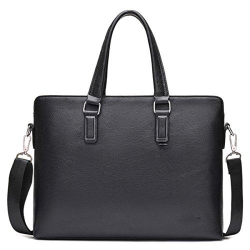 BUKUANG Männliche Tasche Handtasche Hochleistungs-Computertasche Schulterbeutel Der Männer Schräger Quer-Art Rucksack,Brown Black