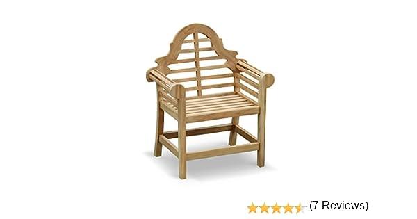 Lutyens Garden Armchair FULLY ASSEMBLED in Premium grade sustainable teak -  Jati Brand, Quality & Value Amazon.co.uk Garden & Outdoors