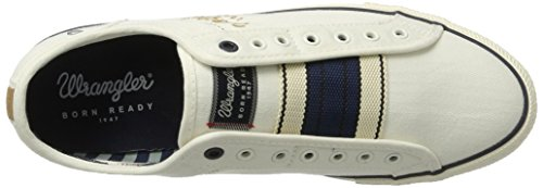 Wrangler Starry Slip On, Sneakers basses homme Weiß (WHITE)