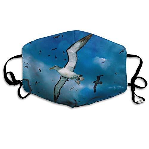 Monicago Einzigartige Unisex-Mundmaske, Gesichtsmaske, Cute Seagulls Flying Art Polyester Anti-dust Masks - Fashion Washed Reusable Face Mask for Outdoor Cycling