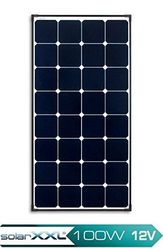 100W Watt Solarmodul Monokristallin PLUS 12V Volt - SunPower® Zellen Solarpanel Photovoltaik - solarXXL