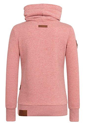 Naketano Female Sweatshirt Debil mit Stil V Foggy Rose Melange
