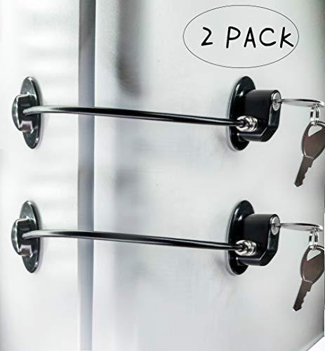 REZIPO - Juego de 2 cerraduras para puerta de refrigerador con 4 llave