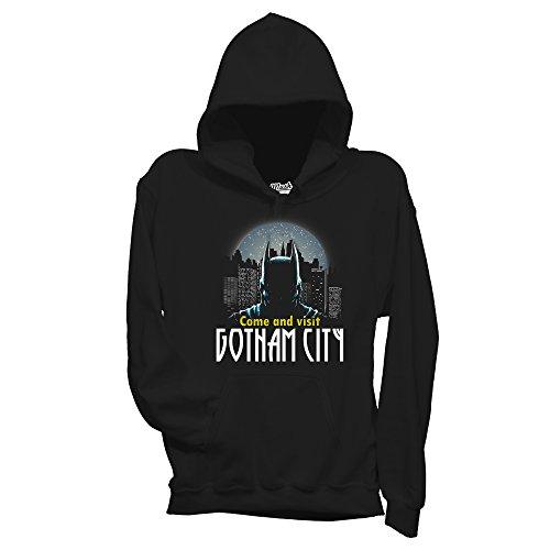 Felpa GOTHAM CITY BATMAN - FILM by Mush Dress Your Style Nera
