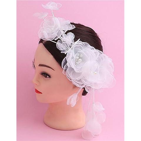 Yu* nappe mano bruciano seta fiori bordo abito da sposa dei pneumatici accessori per capelli il flowe del copricapo della sposa , pink