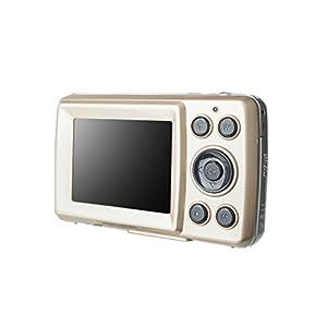 MagiDeal HD 720P 16 Mega Pixels CMOS 2.4 inch TFT LCD Screen 4x Digital Zoom Camera Gold