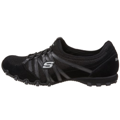 Skechers Bikers Hot-Ticket, Damen Sneakers, Schwarz (BKCC), 38 EU - 5