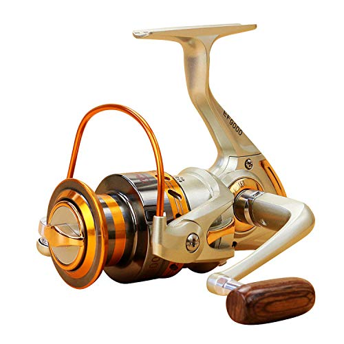 12 Bb Angelrolle Links/Rechts Klappgriff Angeln Spinning Reel Ultra Light Smooth Rock Angelrolle, 9000 Serie -