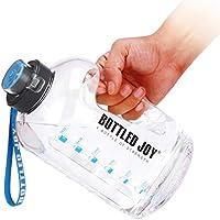 GHONLZIN Botella de Agua Deportiva, 2.5 L Water Bottle con Marcador de Tiempo Apto para Lavavajillas Sin BPA para el Athletic (2.5 L/88OZ)