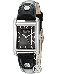 SO & CO New York 5024.1 - Reloj de cuarzo para mujeres, negro
