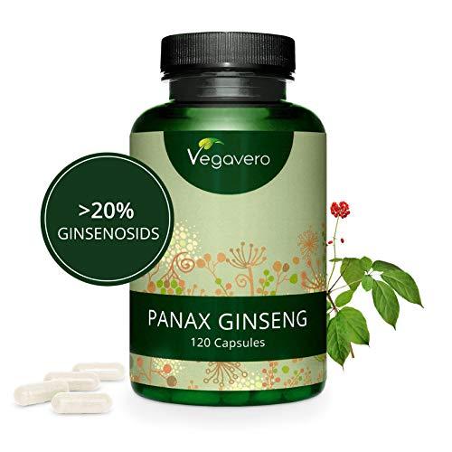 Ginseng Rojo Coreano PURO Vegavero® | LA DOSIS MÁS ALTA: 4800 mg | 20{1dd00acc5bd28a1492f9b1822f7a4b626f3ce7d6829b01465057196f73624030} Ginsenósidos | 120 Cápsulas | Energía + Afrodisíaco + Estimulante + Impotencia + Concentración | Apto Para Veganos