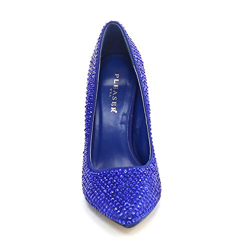 Pleaser USA Shoes, Damen Pumps Blue Satin