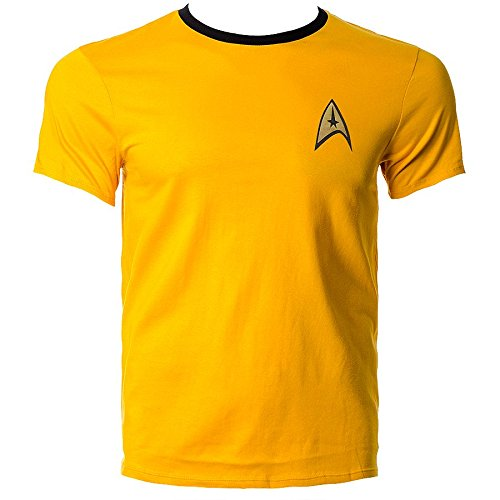T Shirt Star Trek Uniform (Giallo) - Small