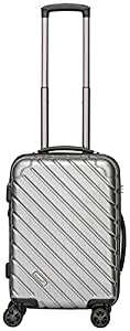 Packenger Premium suitcase, trolley, hard case, vertical size M in silver-metallic. approx. 52x35x24cm