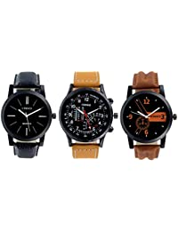 Codice Analogue Black Dial Men's Combo Of 3 Watch -Watchesformen-0105Crmtr