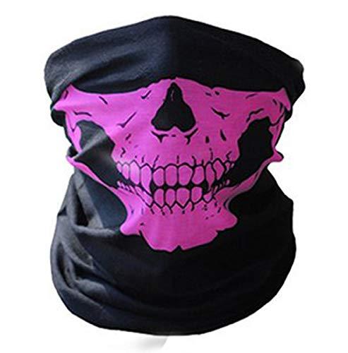 Inception Pro Infinite Sturmhaube – Totenkopf – Halbmond – Radfahrer – Sport – Elastisch – Maske – Halloween – Cosplay – Verkleidung – Karneval – Einheitsgröße Rosa